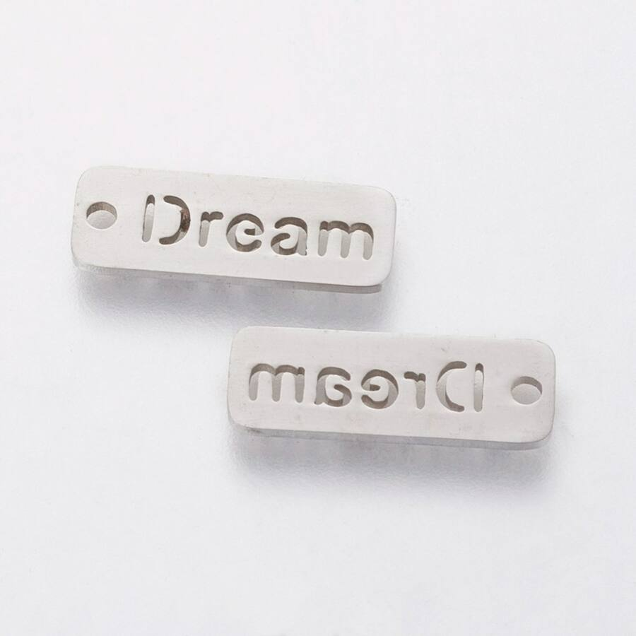 """DREAM"" rozsdamentes acél charm"