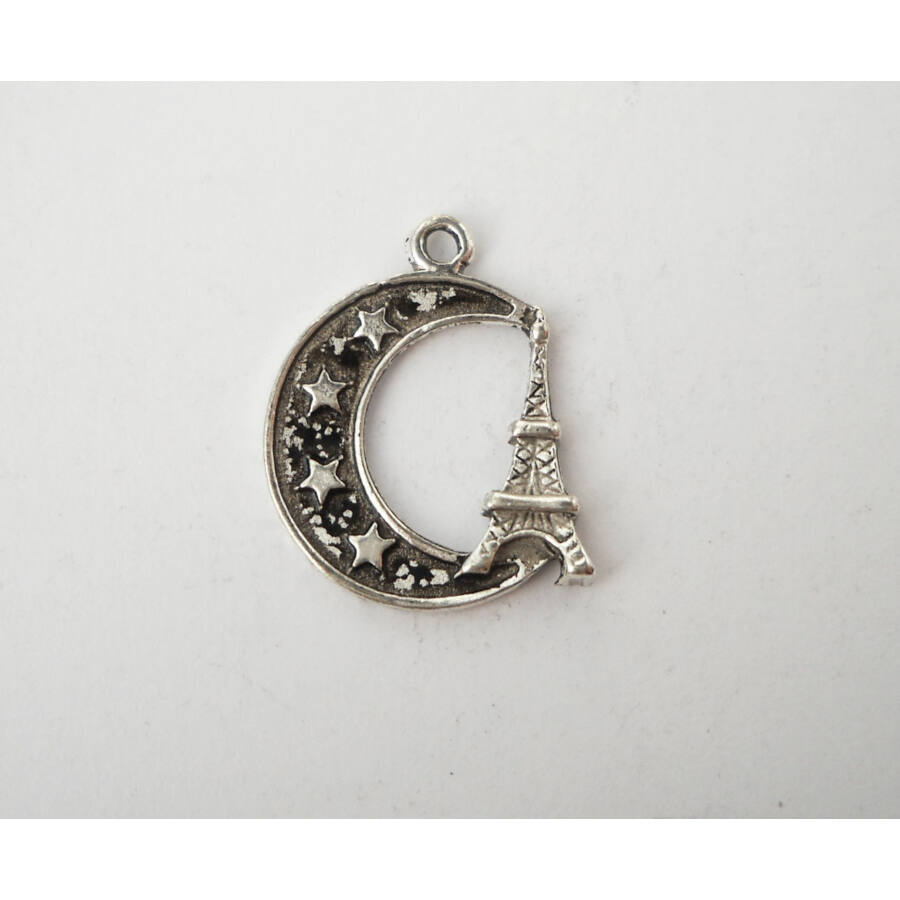 Félhold Eiffel-toronnyal charm