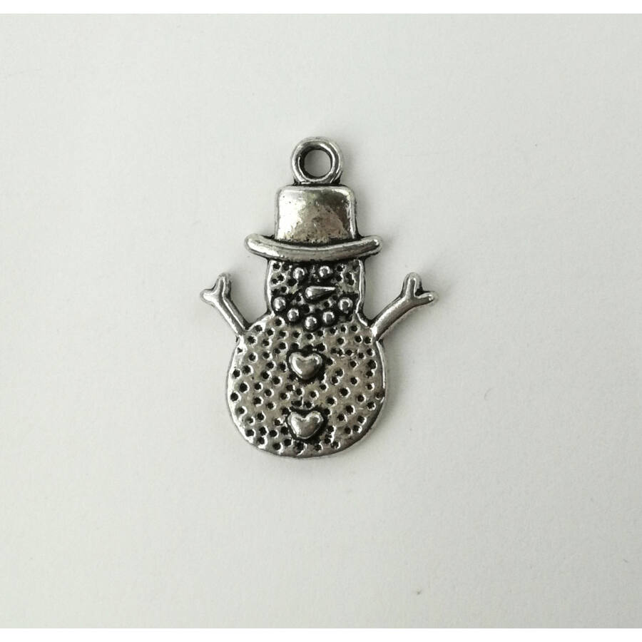 Hóember charm ezüst