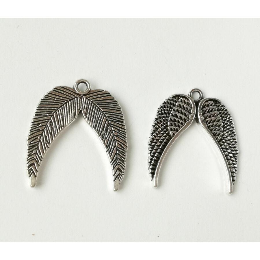 Dupla szárny charm ezüst