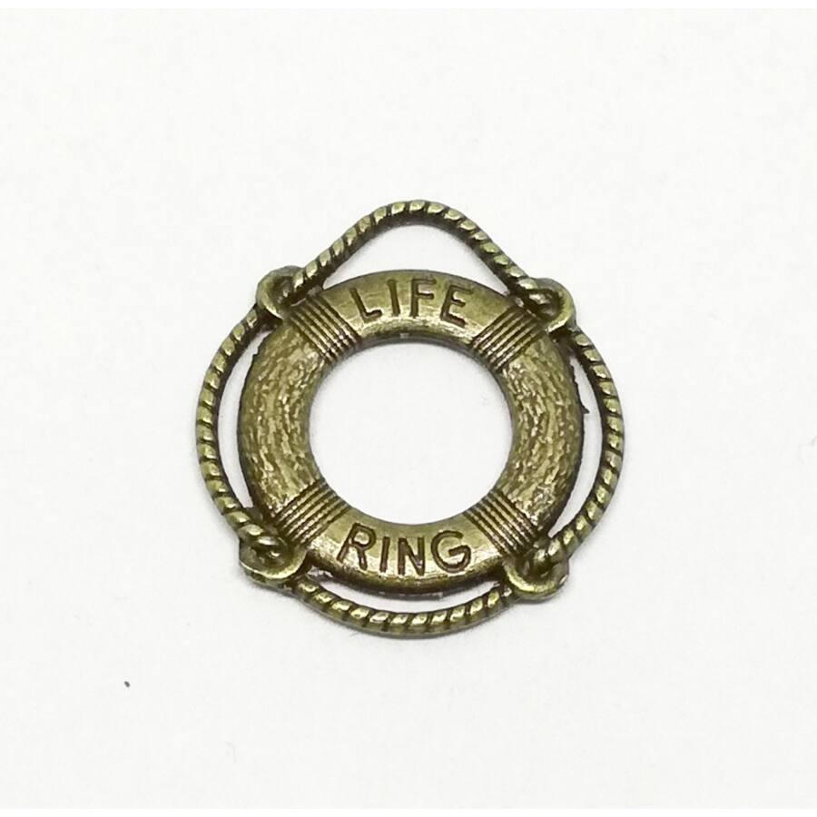 Mentőöv charm bronz