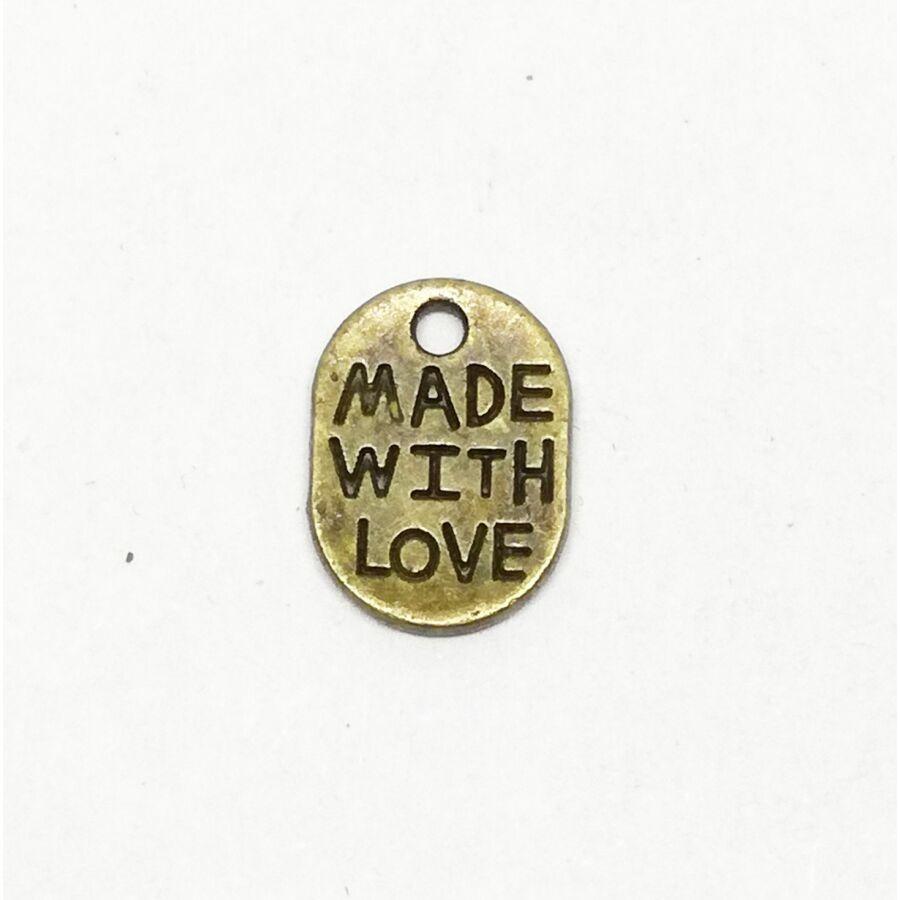 Made with love fliratos charm bronz