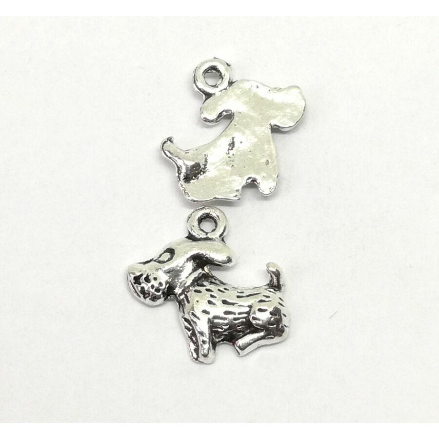 Lobogó fülű kutyus charm ezüst