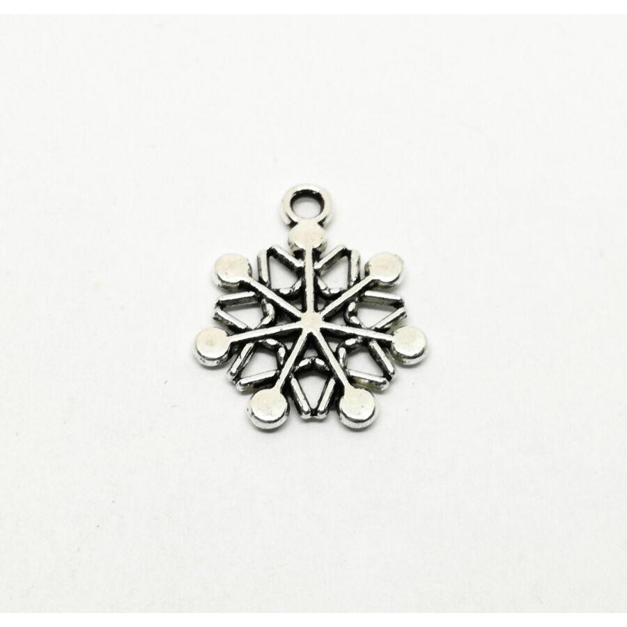 Pöttyös hópehely charm ezüst