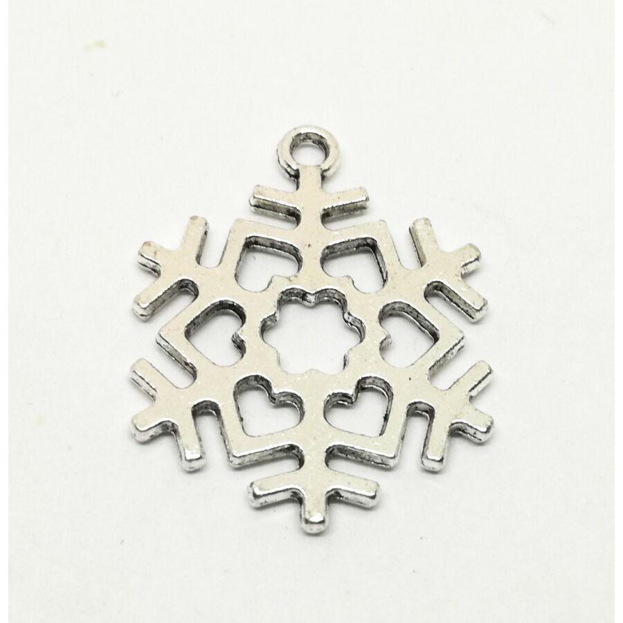 Óriás hópehely charm ezüst
