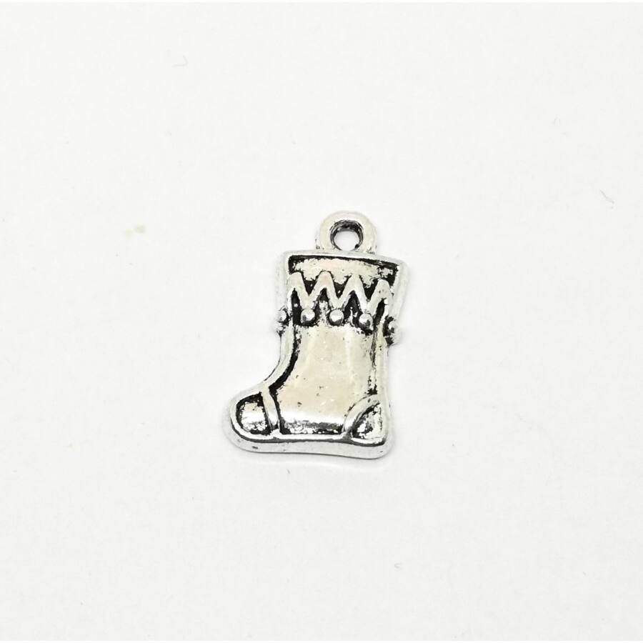 Mikulás csizma charm ezüst