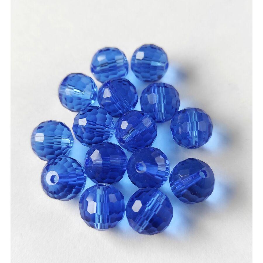 Gömb gyöngy soklapú 10mm búzavirágkék 1db