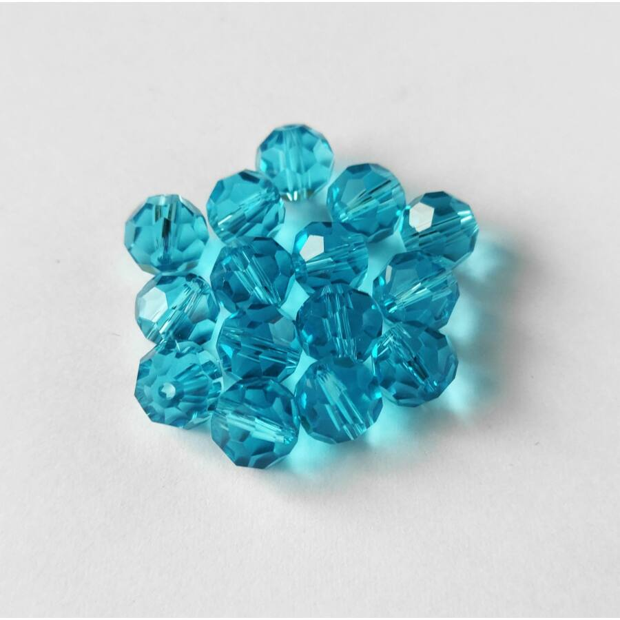 Gömb gyöngy 10mm ciánkék 1db