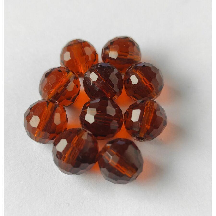 Gömb gyöngy soklapú 10mm barna 1db