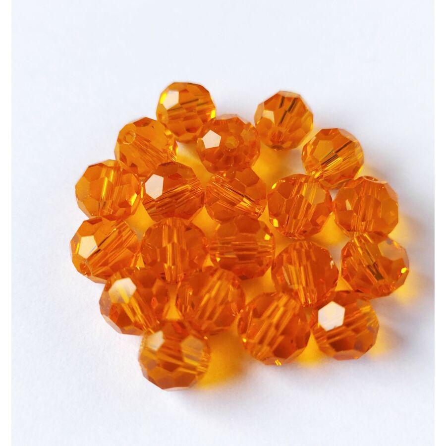 Gömb gyöngy 8mm világos narancs 1db
