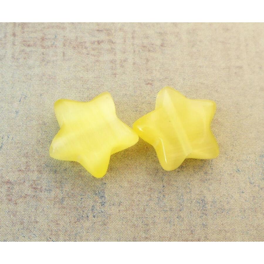 Csillag gyöngy 10mm sárga 1db