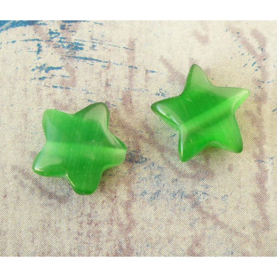 Csillag gyöngy 10mm zöld 1db
