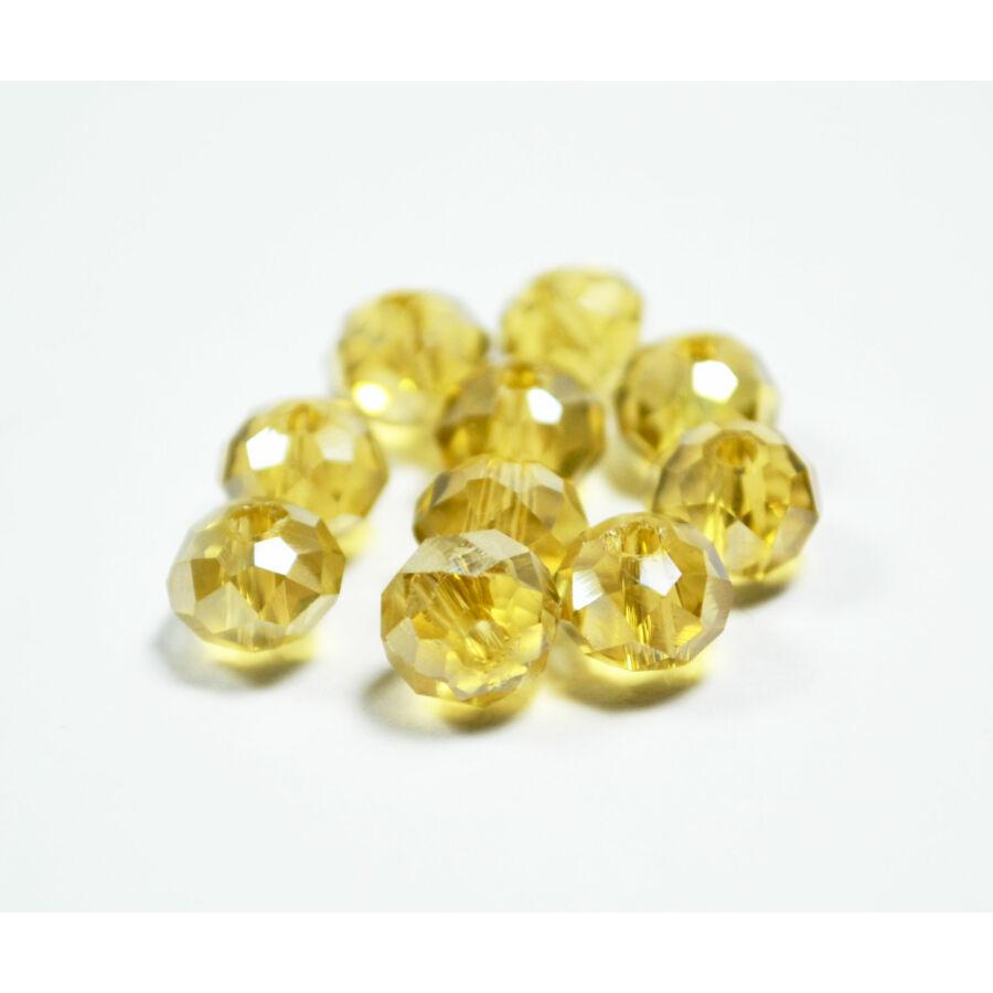 Színjátszós abacus gyöngy 6x5mm pasztell sárga 20db