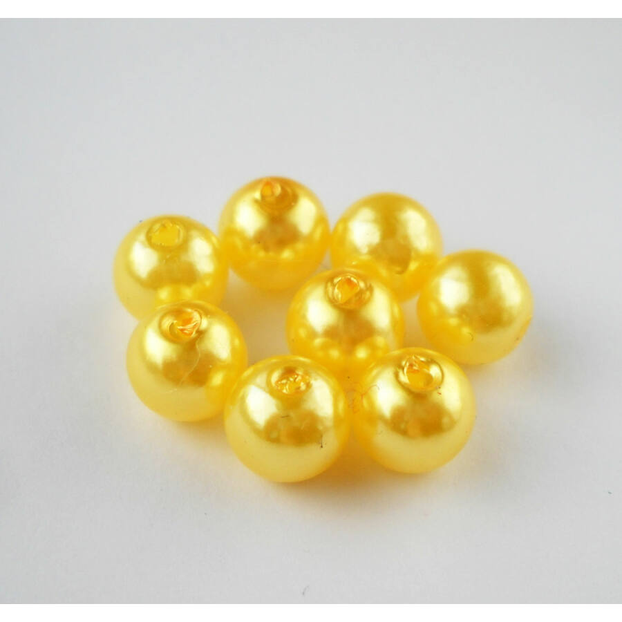 Viaszgyöngy 8mm sárga
