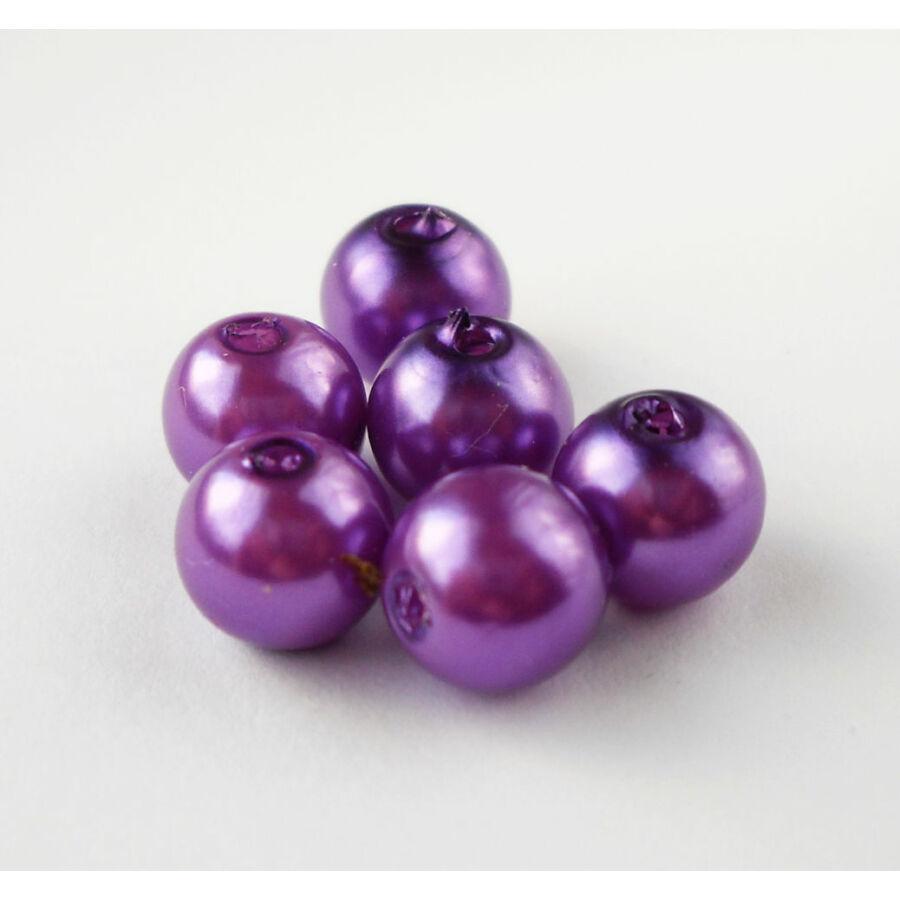 Viaszgyöngy 8mm lila