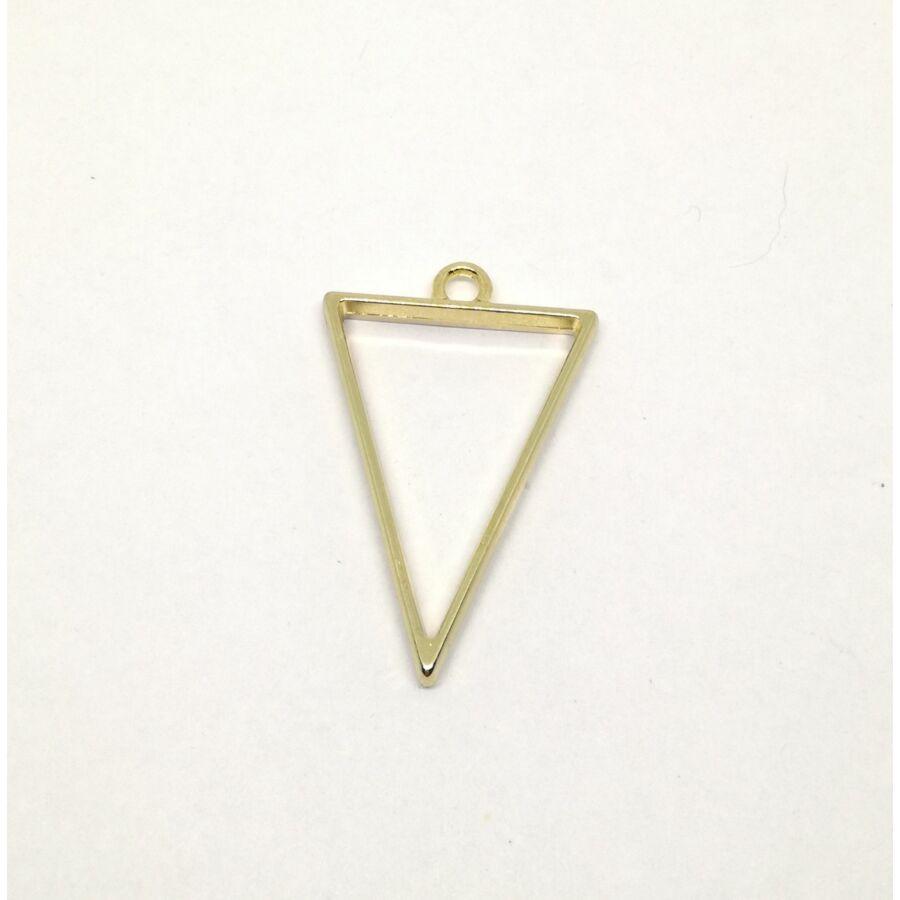 Háromszög medál keret műgyantához arany