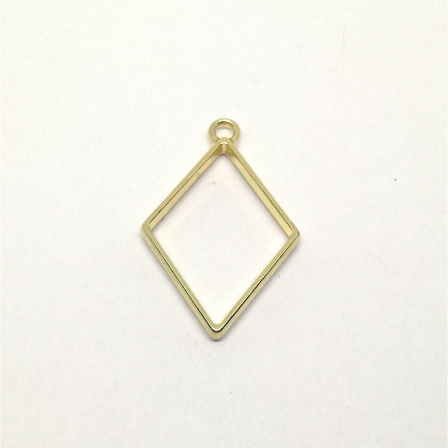 Kicsi rombusz medál keret műgyantához arany